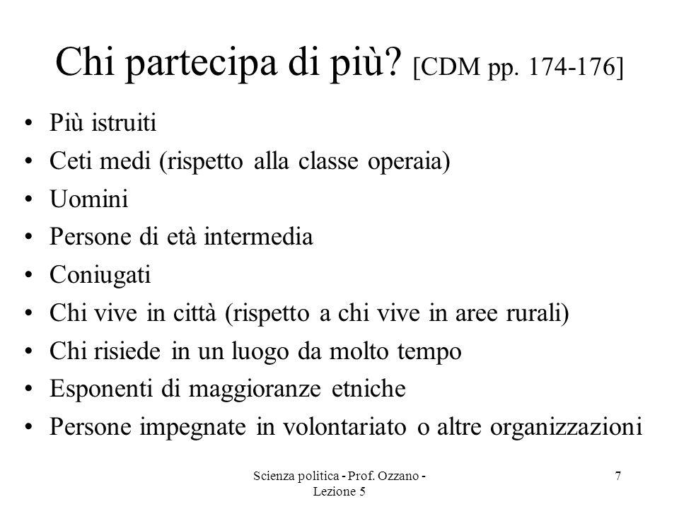 Chi partecipa di più [CDM pp. 174-176]